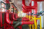 Deluge Valve System Of Firefighting System For Emergency Of Fire Case In Offshore Oil And Gas Centra poster