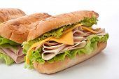 tasty honey roasted ham and cheese sandwich