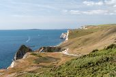 Landscape Photo Of The Cliffs At Durdle Door In Dorset. poster