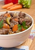 beef stew with celery and carrot
