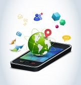 Smart phone technologies. Concept of modern mobile phones and their funcionality. Finding friend, gp
