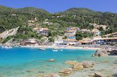 Agios Nikitas on the island of Lefkas in Greece