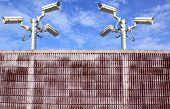 wall and cctv camera securities