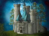 stock photo of magi  - Fantasy Castle in the enchanted dreamy land - JPG