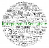 Interpersonal Sensitivity concept in word tag cloud on white background