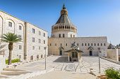 Exterior Of Church Of The Annunciation Or The Basilica Of The Annunciation In The City Of Nazareth I poster