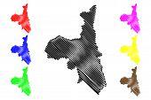 Assaba Region (regions Of Mauritania, Islamic Republic Of Mauritania) Map Vector Illustration, Scrib poster