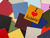 I Love Kisses! Sign or Banner For Relationships, Office Romance & Lovers Everywhere!