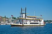 Seattle, Wa - August 24 - Queen Of Seattle Paddleboat Tours