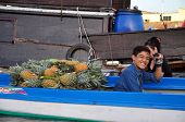 Vietnamese merchants selling their goods in Cai Rang floating market, Mekong Delta, Vietnam