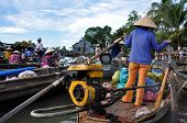 Boat sellers at Can Tho floating market, Mekong Delta, Vietnam