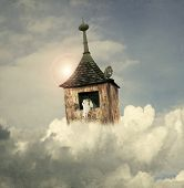 stock photo of noah  - Beautiful fantasy tower - JPG