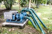 Pump And Pipes At Cooling Tower