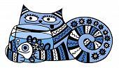 cat with aquarium