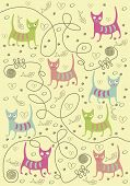 cats of different colors
