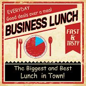 Vintage Business Lunch Grunge Poster