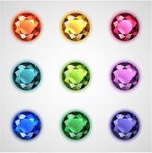 Coleção de pedras coloridas - eps10 vector