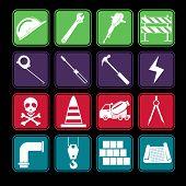 Construction Icon Set Basic Style