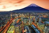 pic of mount fuji  - View of Yokohama and Mt - JPG