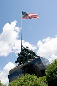 picture of iwo  - Detail of the Iwo Jima Memorial Statue located in New Britain Connecticut - JPG
