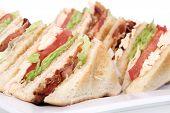 real chicken club sandwich