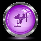 Clamp. Internet button. Vector illustration.