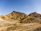 Danxia Landform With Colorful Stripes