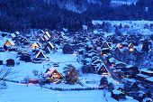 Light Up Of Shirakawago