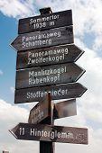 tourist guidepost - dolomiti italy