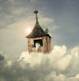 stock photo of noah  - Beautiful fantasy tower - JPG