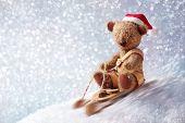 Santa teddy bear