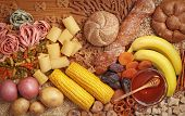 stock photo of carbohydrate  - Foods high in carbohydrate - JPG