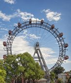 stock photo of wieners  - The Wiener Riesenrad or Viennese giant wheel - JPG