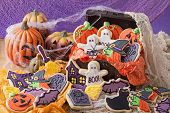 Colorful cookies for halloween party