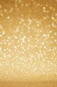foto of golden  - Golden glitter christmas abstract background - JPG