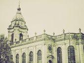 Vintage Sepia St Philip Cathedral, Birmingham