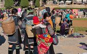 Black Hmong Women On The Market . Sapa. Vietnam