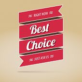 Best choice poster, vector illustration