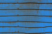 Blue Grunge Wooden Fence Closeup
