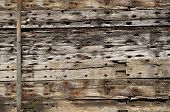 A Siding Made From Old, Wooden Beams