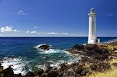 Постер, плакат: Lighthouse at Vieux Fort the southernmost point of Guadeloupe Caribbean Sea