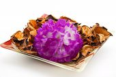 Flower blossom with potpourri