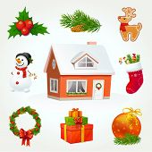stock photo of rudolph  - Highly detailed vector elements for Christmas and New Year - JPG