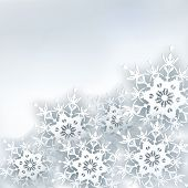 Creative Stylish Abstract Background With 3D Snowflake