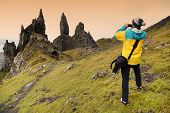 Trekking in Highlands of Scotland, Old Man of Storr