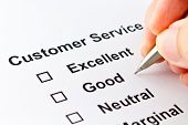 image of performance evaluation  - customer service evaluation isolated over white background - JPG