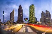 Potsdamer Platz is the financial district of Berlin, Germany.