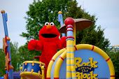 Elmo Character in Sesame Place