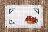 Frame with flower poinsettia