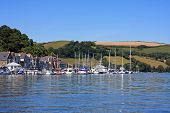 picture of dartmouth  - boats moored on the River Dart at Dartmouth